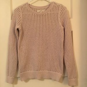Loft crew neck sweater in light pink